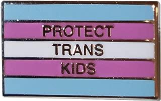 Protect Trans Kids Anti-Trump, Pro-Equality Transgender Pride Flag Pin