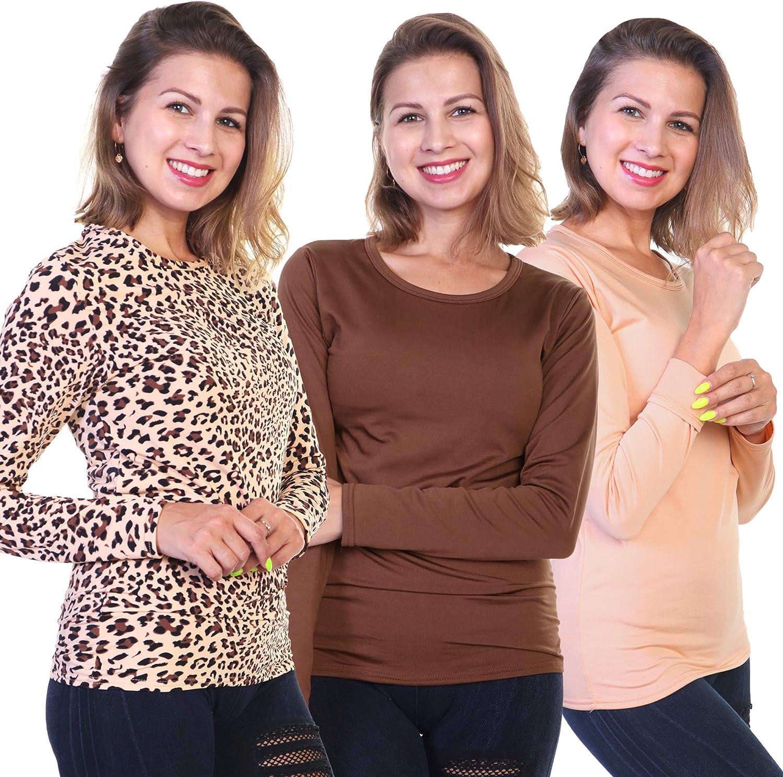Angelina Women's Fleece Lined Long Sleeve Thermal Top