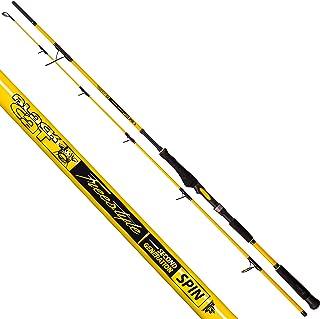 3,30 m Black Cat Premium Welsrute Perfect Passion Long Range Angelrute Wels Angeln Wallerrute Wurfgewicht 600g Schwarz-Gelb