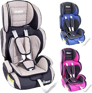 KIDIMAX Autokindersitz Kindersitz Kinderautositz, Sitzschale, universal, zugelassen nach ECE R44/04, in 3, 9 kg - 36 kg 1-12 Jahre, Gruppe 1/2 / 3 Grau