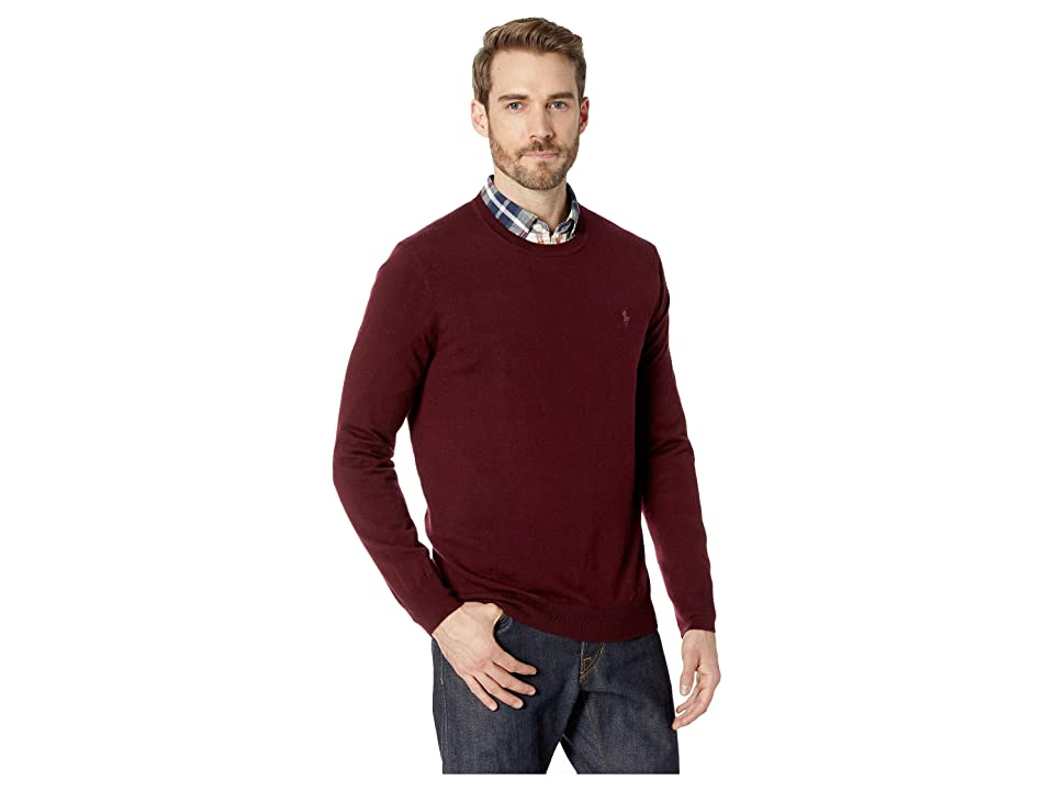 Polo Ralph Lauren Washable Merino Crew Neck Sweater (Classic Wine) Men