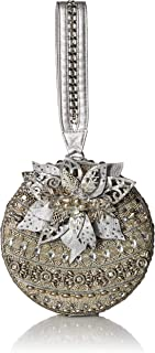 Mary Frances womens Snow Globe, Beaded Holiday Ornament Wristlet Handbag