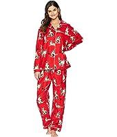 Haiku Kitty Flannel Pajama Set