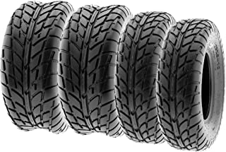SunF Sport Race Replacement ATV UTV 6 Ply Tires 25x8-12 & 25x10-12 Tubeless A021, [Set of 4]