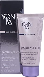 YON-KA - AGE EXCEPTION EXCELLENCE CODE MASQUE (1.8 Ounces / 50 Milliliters) - Face Mask Formulated to Strengthen the Support Structures of the Skin and Maintain Its Youthful Bounce and Volume