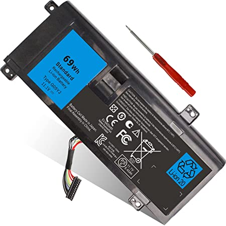 69WH Type G05YJ Laptop Battery Compatible with Dell Alienware 14 A14 M14X R3 R4 14D 14D-1528 ALW14D-5728 ALW14D-5528 14D-4828, Fits Y3PN0 8X70T P39G 0G05YJ