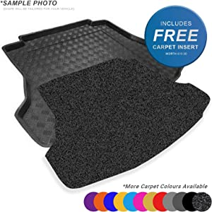 carmats4u fit Octavia III Estate 2013  Fully Tailored PVC Boot Liner Mat Tray Anthracite Carpet Insert