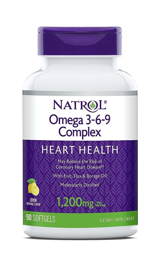 ベスト硬いスポンサー海外直送品 Natrol (incl Laci Le Beau Teas) Omega 3-6-9 Complex, 90 Softgels