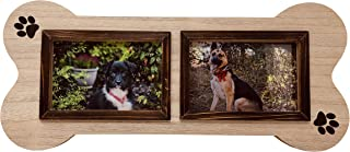 Dog Picture Frame Unique Collage, 4x6, Two Photo, Picture Frame in The Shape of a Dog Bone. Makes a Great Gift for Anyone That has Dogs