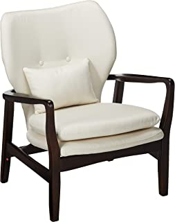 Christopher Knight Home Teague Dark Espresso Wood with Beige Fabric Club Chair
