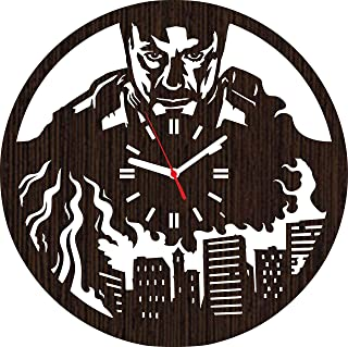 Wooden Wall Clock Iron Man Gifts for Men Women Kids Boys Girls Party Supplies Accessories Merchandise Marvel Comics Decorations Home Nursery Shower Room Decor dc The Avengers Christmas