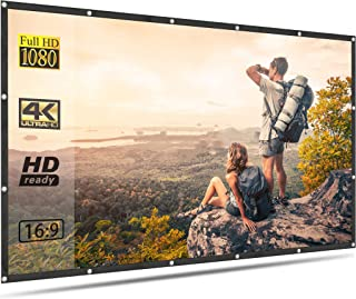 Projector Screen for Outdoor Movies 150 inch Portable Foldable Anti Crease 16:9 4K HD Projection Video Film Screen for Hom...