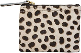 Leopard Hair on Calf Leather Small Wallet Coin Purse