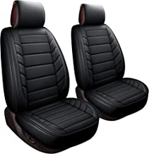 LUCKYMAN CLUB 2 Front Driver Seat Covers Fit Most Sedan SUV Truck Fit for Toyota 4runner Tacoma Rav4 Corolla Camry Prius Sienna Acura Tl Tsx 4 Runner (2 PCS Front, Black)