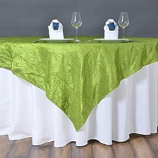 "Square Crinkle Crushed Taffeta Table Overlay - 60"" x 60"" | Tea Green | Pack of 1"