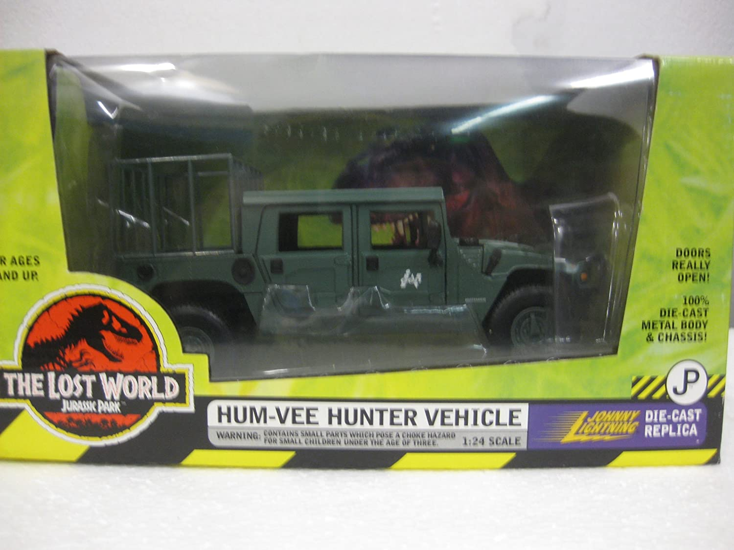 Jurassic Park The Lost World Hum-Vee Hunter Vehicle by diecast 164 scale