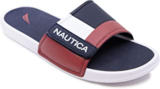 Nautica Men's Athletic Slide, Adjustable Straps Comfort Sandal-Bower