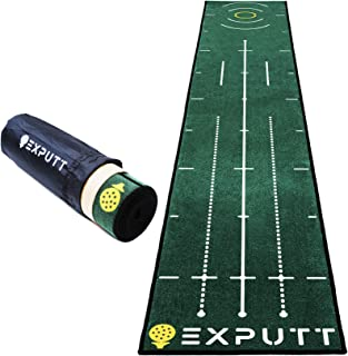 EXPUTT Indoor Putting Green, Golf Putting Practice Mat with Carry Bag (Approx 10ft x 1.65ft)