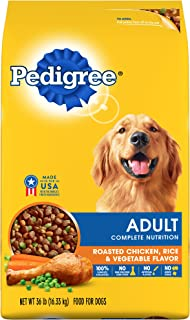 Pedigree Complete Nutrition Adult Dry Dog Food Roasted Chicken, Rice & Vegetable Flavor, 36 Lb. Bag