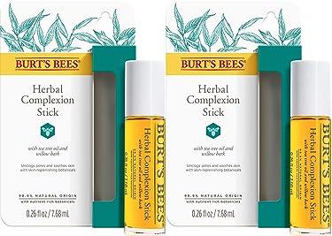 Burt 's Bees barra herbal para máculas, granitos, 0,26 onzas fluidas, paquete de 2.