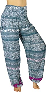 PI Yoga Pants Women's Scrunched Bottom, Loose Comfortable Boho Athleisure Wear, (One Size, Stretches 0-12)