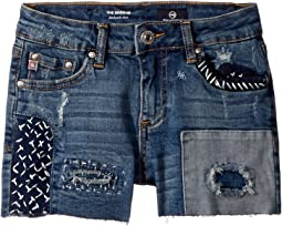 AG Adriano Goldschmied Kids Patchwork Shorts (Big Kids)