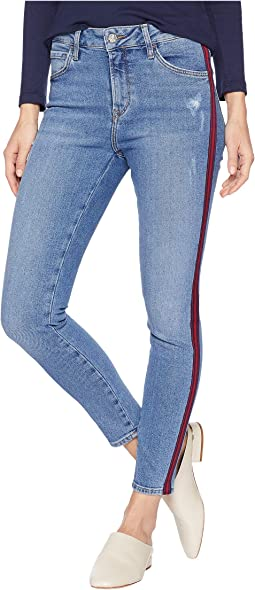 Tess High-Rise Skinny in Indigo Stripe