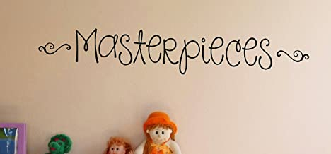 Wall Decor Plus More WDPM3161 Sticker Lettering Masterpieces for Kids Artwork Display area, 36-Inch x 6-Inch, Black