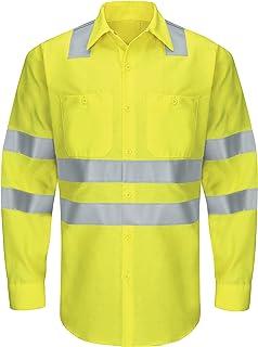 Red Kap mens Hi-Vis LS Colorblock Ripstop Work Shirt - Type R, Class 3 Shirt