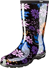 Sloggers Women's Waterproof Rain and Garden Boot with Comfort Insole, Flower Power, Size 8, Style 5016FP08