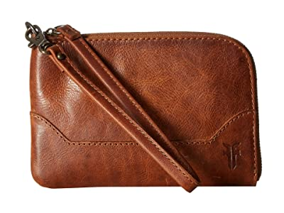 Frye Melissa Wristlet (Cognac Antique Pull Up) Wristlet Handbags