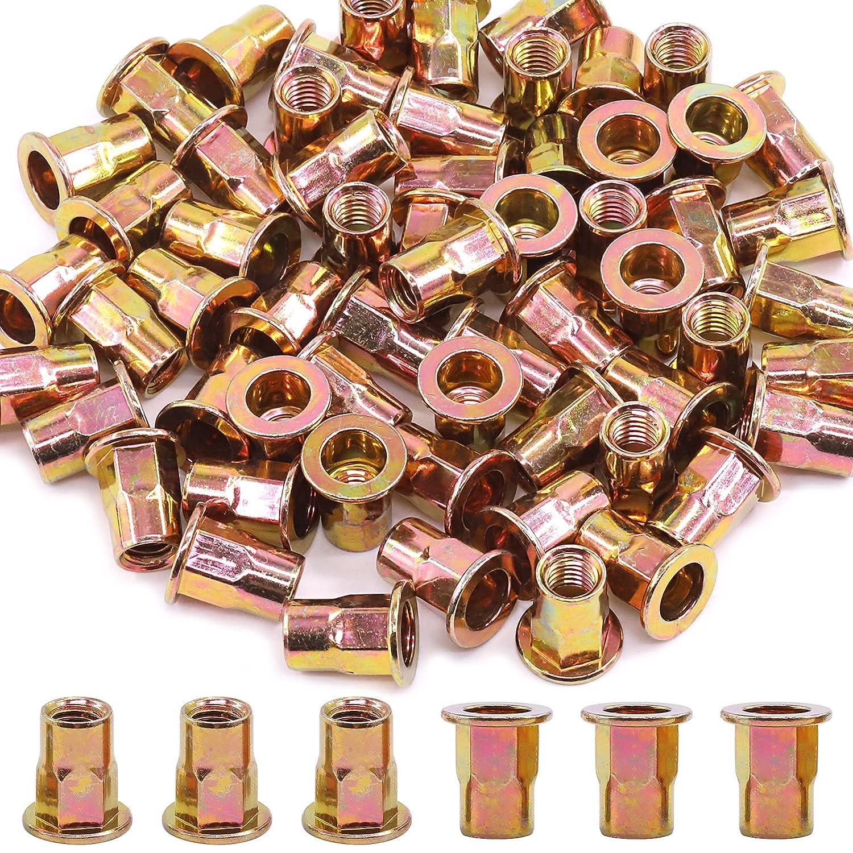 Cimeton M3 National uniform free shipping 4 5 6 8 10 12 Head Financial sales sale Carbon Rivet Zinc Flat Steel Nuts