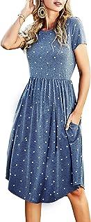 Simier Fariry Empire Waist Swing Midi Dress with Pockets
