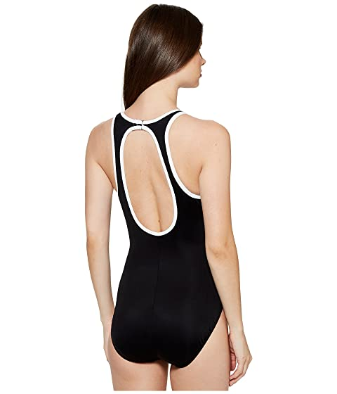 Miraclesuit MSP Swim Line Up One-Piece Black/White Eastbay Cheap Online Lw3Ou4