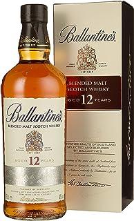 Ballantines 12 Blended Malt Scotch Whisky – 12 Jahre gereifte Komposition aus ausgewählten Malt Whiskys – Goldgelbe Farbe mit rauchig & frischem Geschmack – 1 x 0,7 L