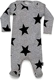 NUNUNU Star Footed Overall - Unisex Baby Long Sleeve Coverall, Newborn 100% Cotton Overall for Baby Girls and Baby Boys