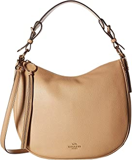 7772d2ae0216 COACH Polished Pebble Leather Chaise Crossbody | Zappos.com