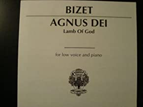 AGNUS DEI / Lamb of God / for Low Voice and Piano / Bizet