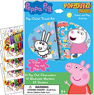 Peppa Pig Coloring Pop-Outz Party Favors with Stickers, Markers and Coloring Activity Boards ~ Plus Separately Licensed 3X...