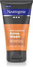 Neutrogena Men Skin Clearing Daily Acne Face Wash with Salicylic Acid Acne Treatment, Non-Comedogenic Facial Cleanser to Treat & Prevent Breakouts, 5.1 fl. oz