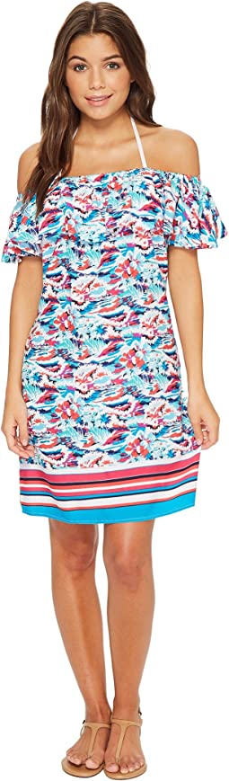 Tommy Bahama - Graphic Tropics Off-The-Shoulder Dress Cover-Up