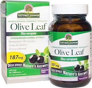 Natures Answerreg Olive Leaf 187mg 60 Veg Capsules