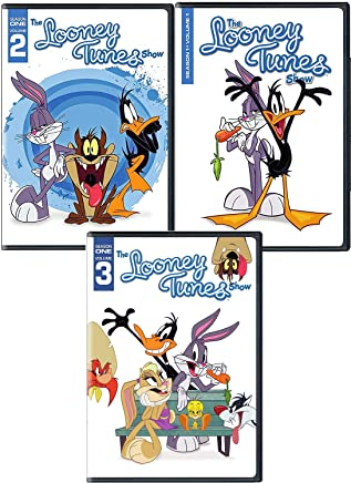 New Toons 3 Pack DVD Animated Cartoons Show Looney Tunes: Season 1, Vol. 1/2/3 Screen icons Bugs Bunny and Daffy Duck