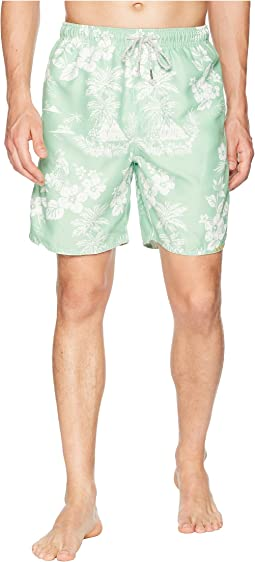 Waterman Outrigger Drawstring Swim Boardshorts w/ Mesh Lining