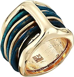Patina & Gold Stacked Ring