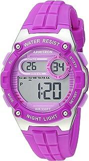 ساعة ارمترون سبورت للنساء 45/7105PUR رقمية كرونوغراف بسوار سليكون بنفسجي