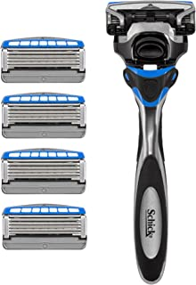Schick Hydro Sense Hydrate Razors for Men With Skin Guards and Shock Absorbent Technology, 1 Razor Handle and 5 Razor Blades Refills