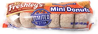 Mrs. Freshley's Donuts, Mini, Pumpkin Spice, 6 Count, Pack of 12