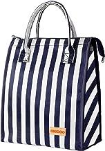 striped cooler tote