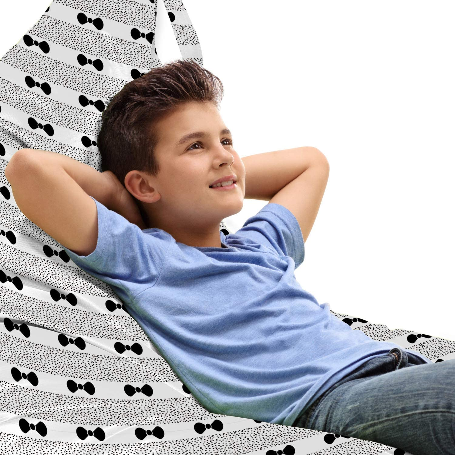 Lunarable Hipster Lounger Chair Bag T Black Bow Modern Same day shipping Repeated Max 67% OFF